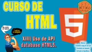 013.- Curso de HTML5. Uso API Database