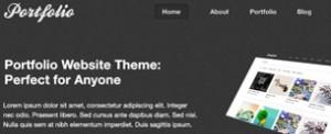 Theme completo en formato PSD para crear tu propio portfolio