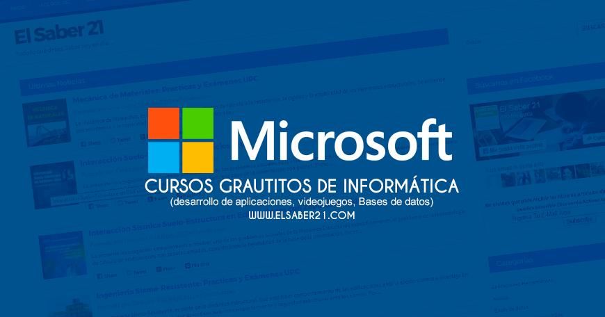15 Cursos Gratuitos de Informática – Microsoft 2017