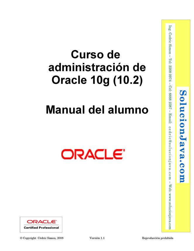 Curso de administración de Oracle 10g (10.2) – Manual del alumno