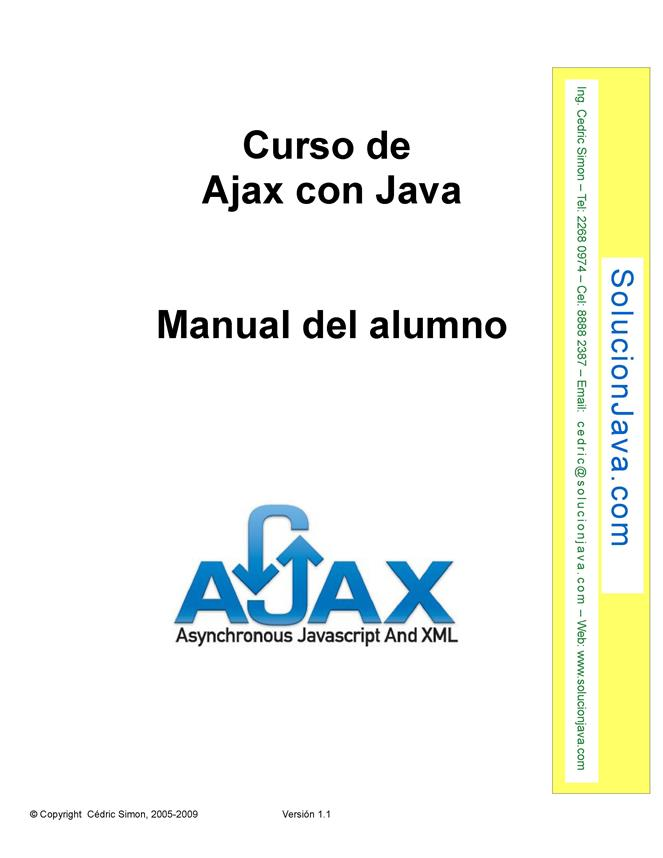 Curso de Ajax con Java – Manual del alumno