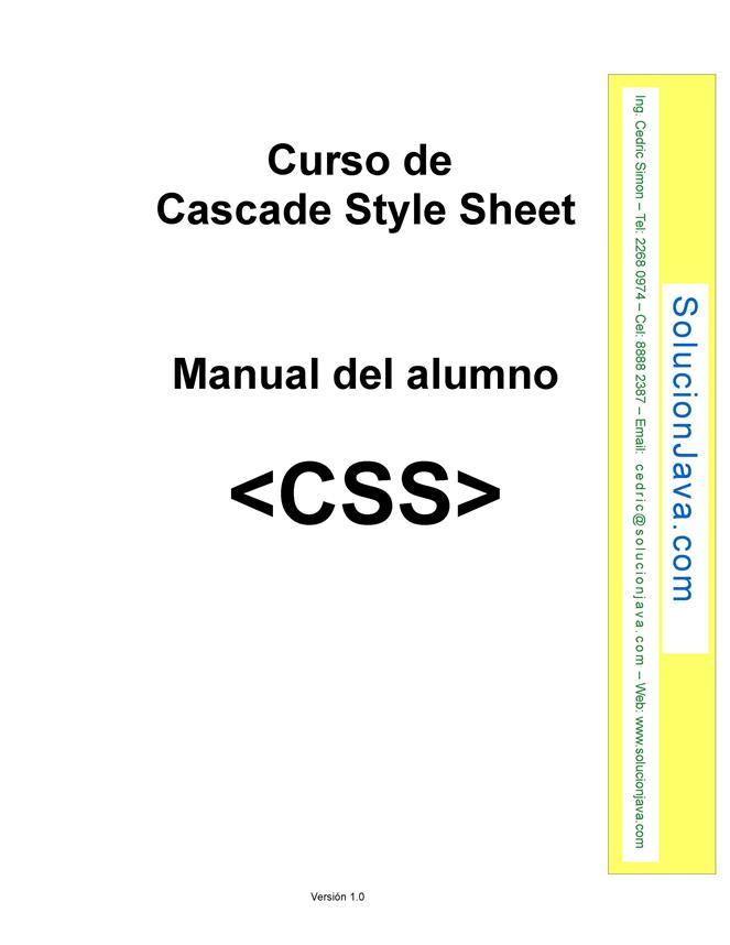 Curso de Cascade Style Sheet (CSS) – Manual del alumno