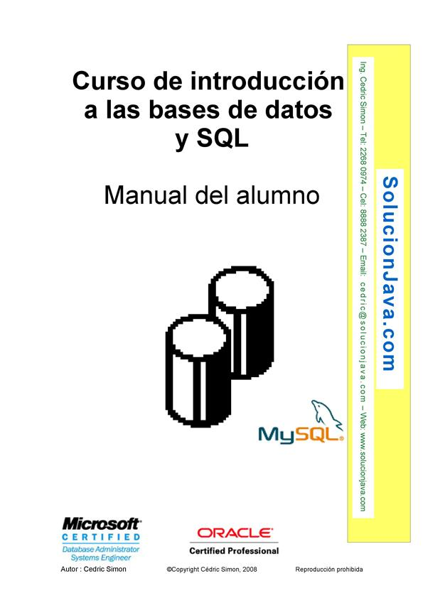 Curso de introducción a las bases de datos y SQL – Manual del alumno