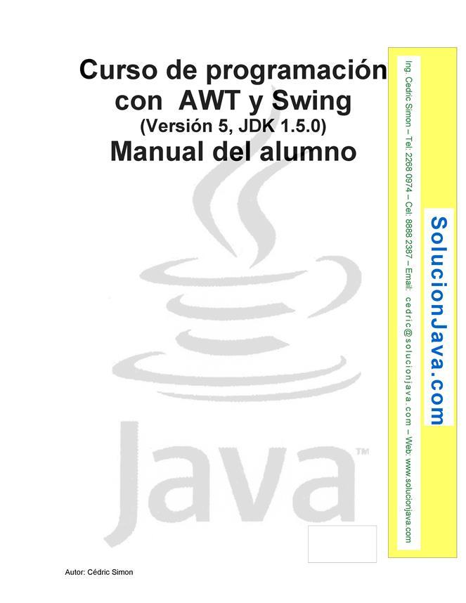 Curso de programación con AWT y Swing – Manual del alumno