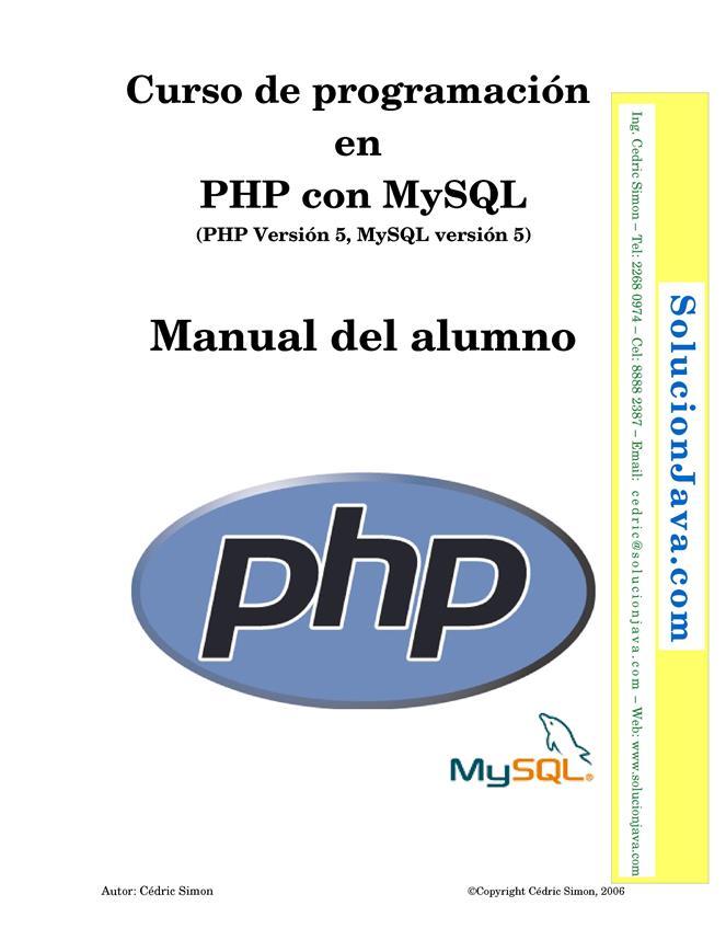 Curso de programación en PHP con MySQL – Manual del alumno