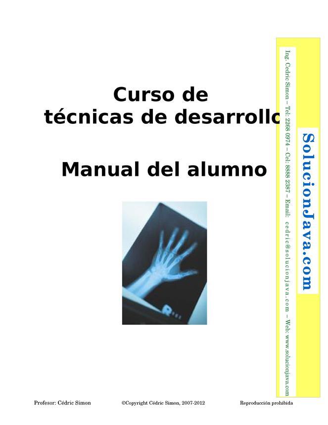 Curso de técnicas de desarrollo – Manual del alumno