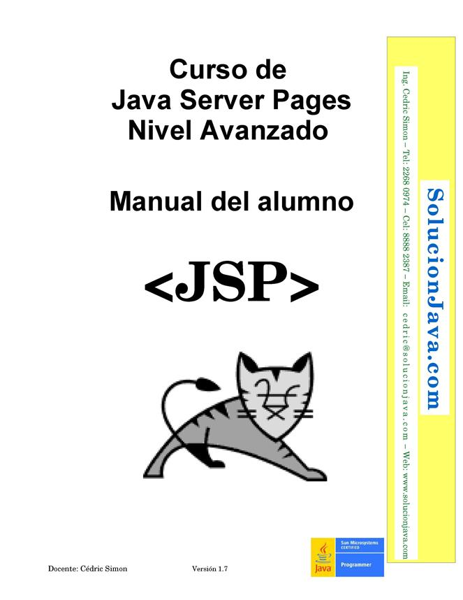 Curso de Java Server Pages: Nivel Avanzado – Manual del alumno