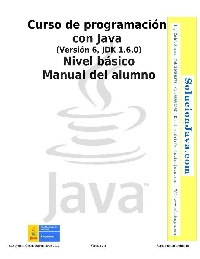 Curso de programación con Java: Nivel básico – Manual del alumno