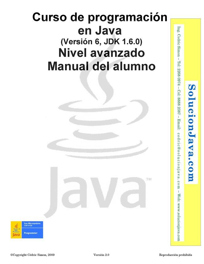 Curso de programación en Java: Nivel avanzado – Manual del alumno