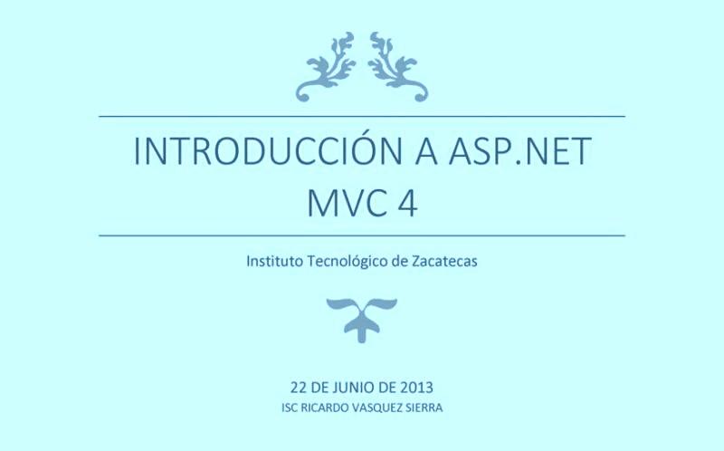 Introducción a ASP.NET MVC 4