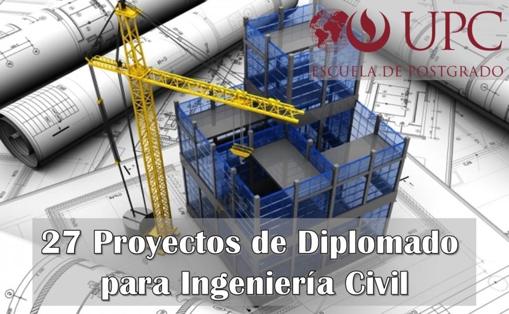 Proyectos de Diplomado para Ingeniería Civil