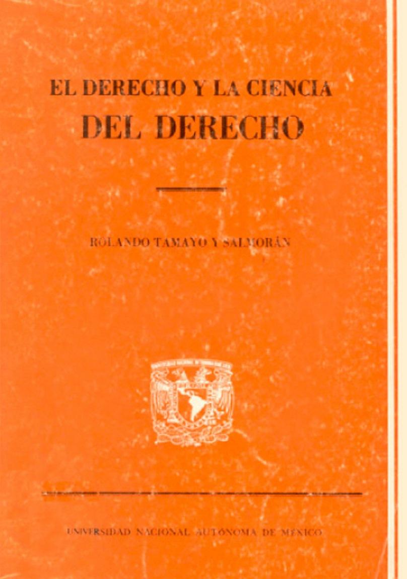 El derecho y la ciencia del derecho: Introducción a la ciencia jurídica