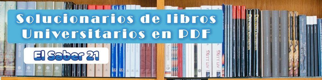 Solucionarios de libros universitarios en PDF