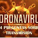 14 Preguntas sobre Transmisión de Coronavirus o COVID-19
